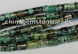 CTU485 15.5 inches 5*5mm - 5*8mm tube African turquoise beads wholesale