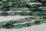 CTU486 15.5 inches 5*12mm rice African turquoise beads wholesale
