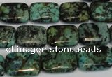 CTU497 15.5 inches 13*18mm rectangle African turquoise beads wholesale