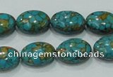 CTU618 15.5 inches 14*18mm oval synthetic turquoise beads wholesale
