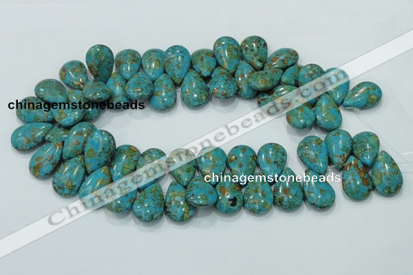 CTU628 16*25mm top-drilled teardrop synthetic turquoise beads