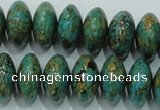 CTU643 15.5 inches 12*20mm rondelle synthetic turquoise beads
