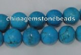 CTU825 15.5 inches 12mm round dyed turquoise beads wholesale