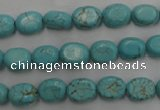 CWB730 15.5 inches 6*10mm oval howlite turquoise beads wholesale