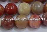 CWJ464 15.5 inches 12mm round rainbow wood jasper beads