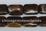 CZJ154 15.5 inches 13*18mm rectangle iron zebra jasper beads wholesale