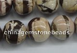 CZJ254 15.5 inches 16mm round zebra jasper beads wholesale