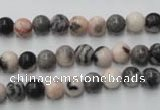 CZJ401 15.5 inches 6mm round pink zebra jasper beads wholesale