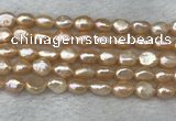 FWP280 15 inches 7mm - 8mm baroque pink freshwater pearl strands