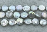 FWP393 15 inches 14mm - 16mm coin freshwater pearl beads