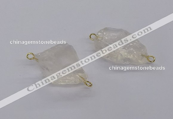 NGC1800 18*25mm - 22*30mm nuggets white crystal connectors