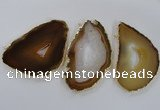 NGC224 50*70mm - 60*80mm freeform agate gemstone connectors