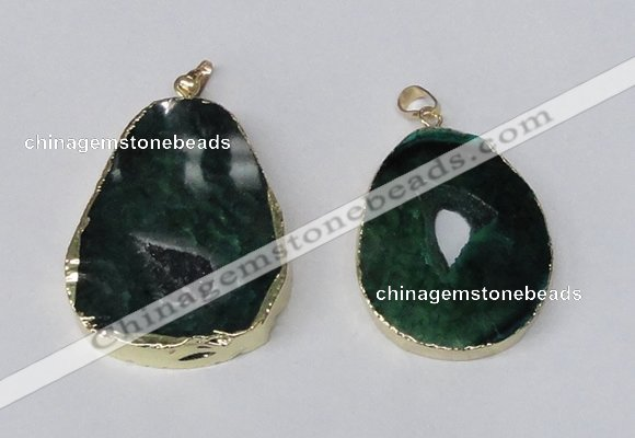 NGP2219 30*40mm - 40*45mm freeform druzy agate gemstone pendants