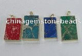 NGP2619 20*40mm - 25*45mm rectangle sea sediment jasper pendants