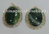 NGP2759 50*60mm oval agate gemstone pendants wholesale