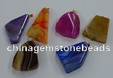 NGP8665 20*40mm - 40*50mm freeform agate pendants wholesale